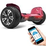 8.5' Premium Offroad Hoverboard Bluewheel HX510 SUV Deutsche Qualitäts Marke- Kinder Sicherheitsmodus & App - Bluetooth - Starker Dual Motor - Elektro Skateboard Self Balance Scooter (Weiß) (Red)