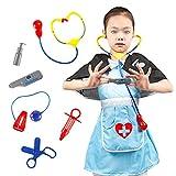 Magent Arztkoffer Spielzeug Mädchen Doktorkoffer zum Rollenspiel mit Stethoskop, Thermometer und Spritze Geschenke für Kinder 3 4 5 6 Jahren