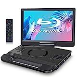 FANGOR 12 Zoll tragbarer Blu-ray DVD Player mit um 270 ° drehbarem Bildschirm 1920 * 1080 Full HD-Heimkino, HDMI Dolby USB/SD