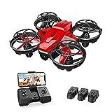 Holy Stone HS420 Mini Drohne mit Kamera für Kinder, RC Quadrocopter mit 3 Batterien Lange Flugzeit, Wifi Live Übertragung,Flugbahn,Gestensteuerung,Werfen-Go,Kunstflug,Höhenhaltung Drone für Anfänger