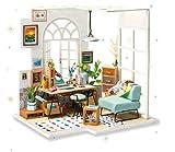 Rolife DIY Mini Holz Puppenhaus mit Möbel DIY Montage Haus Miniatur Handwerk Spielzeug für Jugendliche und Erwachsene (SOHO Time)