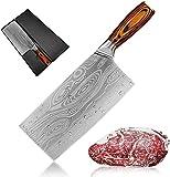SLENGHOME 20,3 cm Kochmesser Fleischbeil Zerkleinerer Metzgermesser Gemüseschneider mit ergonomischem Griff