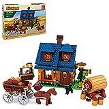 Modulare Hausbausätze, 686 StückModulare Gebäude Farm Serie DIY Sudhaus MOC Architektur Modellbausätze, kompatibel mit Lego
