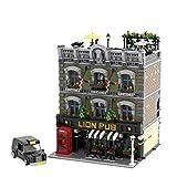Sugeren Modularer Haus Bausatz, MOC-30010, Straßenszene - Lion Pub Modellbauset, 5892 Teile, Exklusives Architektur-Sammel-Display-Modell, Kompatibel mit Lego 10260 10270