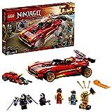 LEGO 71737 NINJAGO Legacy X-1 Ninja Superauto und Motorrad mit Cole als goldene Minifigur