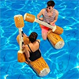 prosperveil Aufblasbares Spielzeug für Schwimmen, gesetzte aufblasbare Schwimm Reihe Spielwaren,schwimmendes Ruderspielzeug,Wasserspielzeug für Erwachsene, Kinder, Strand, Pool, 4-teilig