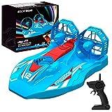 EXTSUD Hovercraft Kinderspielzeug, 2-in-1 Rennboot und Racing 2,4GHz ferngesteuertes Boot Wasserdichtes Luftkissenfahrzeug Fahrzeug mit LED-Licht Spielezeug für Kinder Junge Mädchen