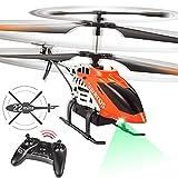 VATOS RC Hubschrauber - 22 Minuten Fliegen Ferngesteuerter Hubschrauber mit LED-Licht - 2,4 GHz & 3,5 Kanäle Mini Hubschrauber für Kinder & Erwachsene Innen Bestes Hubschrauber Spielzeug Geschenk