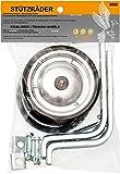 Prometheus Stützräder für Kinderfahrrad universell für 12 14 16 18 Zoll in Metallic - stabile Stahlkonstruktion mit Gummi-Reifen | Edition 2021