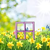 Mini Tür aus Holz kleine Wichteltür für Miniaturlandschaften DIY Miniatur GNOME Home Fenster und Tür für Bäume Yard Garden Patio Decor (J)