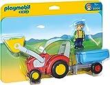 PLAYMOBIL 1.2.3 - 6964 Traktor mit Anhänger, ab 1,5 Jahren