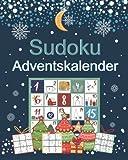 Sudoku Adventskalender: Rätsel Adventskalender mit 200 Sudoku in 3 Schwierigkeitsstufen von leicht bis schwer   Skandinavische weihnachtliche Motive