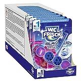 WC FRISCH Kraft Aktiv Blauspüler Blüten-Frische (10er Pack), WC Reiniger für eine sichtbare Reinigung mit blauem Wasser, Duftsteine für einen intensiven WC Duft