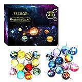 Adventskalender für Kinder, Countdown-Kalender mit Solarsystem – Spielzeug aus der Kollektion Cosmic Galaxy – Weihnachtsgeschenk für Jungen und Mädchen