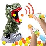 Tacobear Dinosaurier Schießspielzeug für Kinder Dinosaurier Zielscheibe Jungen mit Power Popper Pistole Softball LCD Rekord Jubel Sound Spielzeug Kampfspiel Partyspiele Kinder