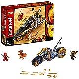 Lego 70672 NINJAGO Coles Offroad-Bike Ninja Motorrad mit Raupenbändern und 3 Minifiguren, Abenteuerspielzeug für Kinder