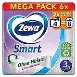 Zewa Smart Toilettenpapier Ohne Hülse, Großpackung Mit 48 Rollen (6 x 8 x 300 Blatt)