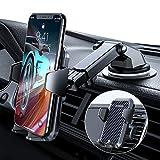 VANMASS Handyhalterung Auto 2021 upgrade Version Handyhalter fürs Auto 3 in 1 Kfz Handyhalterung Lüftung & Saugnapf Halter 100% Silikonschutz Smartphone Halterung Auto für iPhone Samsung Huawei LG usw