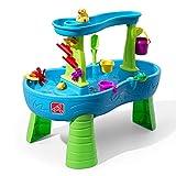 Step2 Rain Showers Wasserspieltisch | Großer Wassertisch mit 13-teiligem Zubehörset | Garten Wasser Spieltisch für Kinder in Blau und Grün