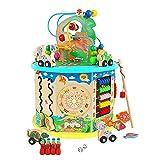 Wenta Motorikschleife Spielzeug Abakus Perlen Dinosaurier Puzzlespiel Angelspiel für Kinder ab 1 Jahre Lernspielzeug 11 in 1 Multifunktion Buntes Holzspielzeug