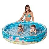 NET TOYS Kinder-Pool im Peppa Pig Look - Blau 122 x 23 cm - Schönes Kinder-Badespielzeug Planschbecken für Outdoor - Genau richtig für Garten & Im Freien