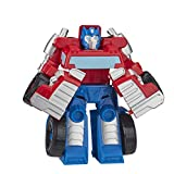 Playskool Heroes Transformers Rescue Bots Academy Optimus Prime Converting Toy, 11,4 cm Actionfigur, Spielzeug für Kinder ab 3 Jahren