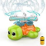 Wassersprinkler für Kinder Outdoor Draußen, Wasserspielzeug Kinder Wasser Sprinkler Garten im Schildkröt Wasserspiel als Gartensprenger GartenRotations Spielzeug ab 3 Jahre