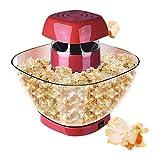JJSFJH Popcorn Popper, 220V-Snacks Popcorn-Maschine Kleiner Großraum Maschine Automatische Küchengeräte Popcorn Machine Popcorn-Maschine ohne Betankung für den Haushalt (Farbe: rot)