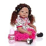 TTWLJJ Simulation Baby Reborn Baby Doll Realistische Weiche Vinyl Puppe 55cm22 Zoll Für Kinder Geburtstags-Geschenk