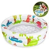 Ucradle Aufblasbares Planschbecken - Beach Buddies Baby Pool Kinder Aufstellpool Kinderplanschbecken, Mehrfarbig Ø 90 x 20 cm, für 1-3 Jahre