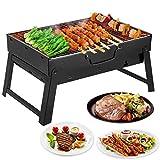 Mbuynow Grill Unterwegs Camping BBQ Grill für Garten Party Barbecue ca. 44.5(L)*31.5(W)*20(H) cm - mittelgroß