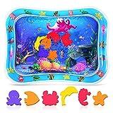 Crislove Wassermatte Baby, Wasserspielmatte BPA- frei, Baby Spielzeug 3 6 9 Monate, Baby Aufblasbare Spielmatte für Baby Spaßaktivitäten (76 * 60cm)