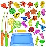 Abree Magnete Angelspiel Wasserspiel Badewannenspielzeug Lernspiel für Kinder ab 3 Jahre