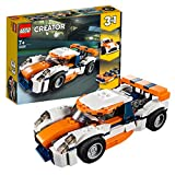 Lego 31089 Creator Rennwagen, Speedboot oder klassischer Rennwagen, 3-in-1 Bauset, Fahrzeuge für Kinder ab 7 Jahren
