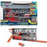 Micro Machines Fire & Rescue Feuerwehr Spielset Adventure mit 1 exklusiven Fahrzeug, Series 2, MMW0110
