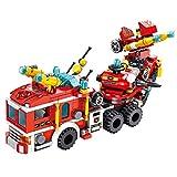 TRCS City Polizei Spielzeug Bausteine, 557 Teile 12 in 1 Feuerwehrauto der Stadt Feuerwehrflugzeuge für SWAT Polizeiauto Polizei, Feuerwehrauto Bausteine Kompatible with Lego