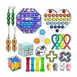 2021 Fidget Toy Push Bubble Pop Spielzeug Stress Angst Relief Spielzeug Set für autistische Kinder Erwachsene Angst Autismus Spezielles Spielzeug für Geburtstagsfeiern Geschenke,Kindertagsgeschenk