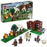 LEGO 21159 Minecraft Der Plünderer-Außenposten, Bauset mit Eisengolem und Anderen Actionfiguren, Spielzeug für Kinder ab 7 Jahren