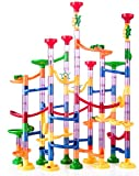 Kriogor 133 Pcs Murmelbahn Marble Run Set mit Bahnelementen und Glasmurmeln, DIY Kugelbahnen Lern und Konstruktionspielzeug für Kinder Mädchen Jungen ab 3 Jahren
