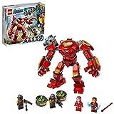 LEGO 76164 Marvel Avengers Iron Man Hulkbuster vs. A.I.M.-Agent, bewegliche Mech Figur, Spielzeug für Kinder, Actionfigur