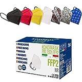 20 Made in EU Stück FFP2 Bunt Masken Zertifiziert FFP2 Maske CE Zertifiziert Bunt FFP2 Masken Bunt CE 2233 Atemschutzmaske Partikelfiltermaske 5 Lagige Staubschutzmasken Hygienisch Einzelverpackt