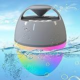 Uekars Bluetooth Lautsprecher Tragbar mit Farbwechselndes Lichter, Freisprech Kabelloser Lautsprecher IP67 Wasserdichter Schwimmender Pool Lautsprecher für Whirlpool,Camp,Outdoor,Indoor