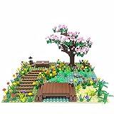 Kirschbaum Bach-Szene Bauklötze, 300+ Teile Klemmbausteine Konstruktion Spielzeugmodelle Kompatibel mit Lego
