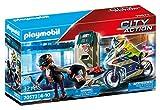 PLAYMOBIL City Action 70572 Polizei-Motorrad: Verfolgung des Geldräubers, Für Kinder von 4 - 10 Jahre