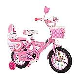 Kinderfahrrad, 12'14' 16'18' Kinderfahrrad, geeignet für Mädchen und Jungen 2-13 Jahre alt, mit Trainingsrädern und Handbremsfahrrad