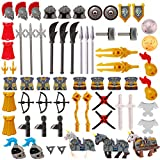 Sugeren 66 Teile Altgriechisch/Altrömisch Rüstungs- und Waffenset für Lego Römer Minifiguren