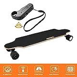 Laiozyen Longboard Elektromotor Skateboard E Skateboard, Longboard LG-Akku mit Fernbedienung, 20Km/h Skaten Cruiser Boards (Schwarz)
