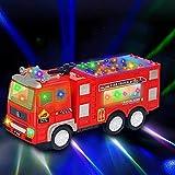 Elektrisches Feuerwehrauto Spielzeug für Kinder Kleinkinder Jungen Mädchen Geschenke – 3D Lightning Firetrucks Universalrad Spielzeug Auto für 3–8 Jahre alte Jungen Geschenke
