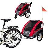 Tiggo Kinderfahrradanhänger Fahrradanhänger Jogger 2in1 Anhänger Kinderanhänger 60302-01 ROT