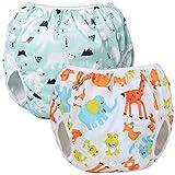 Teamoy Schwimmwindel Baby Verstellbar, Schwimmhose Baby Jungen, Baby Badehose Wiederverwendbar, Badewindelhose Mädchen (Polar Bear + Animal)